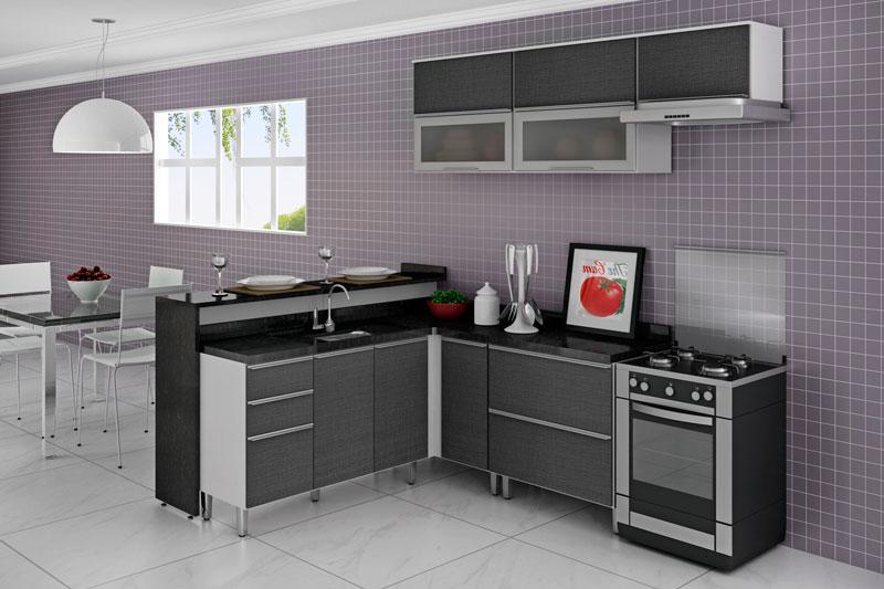 Estilos de Cozinhas: Americana com Sala   Futura Ambientes