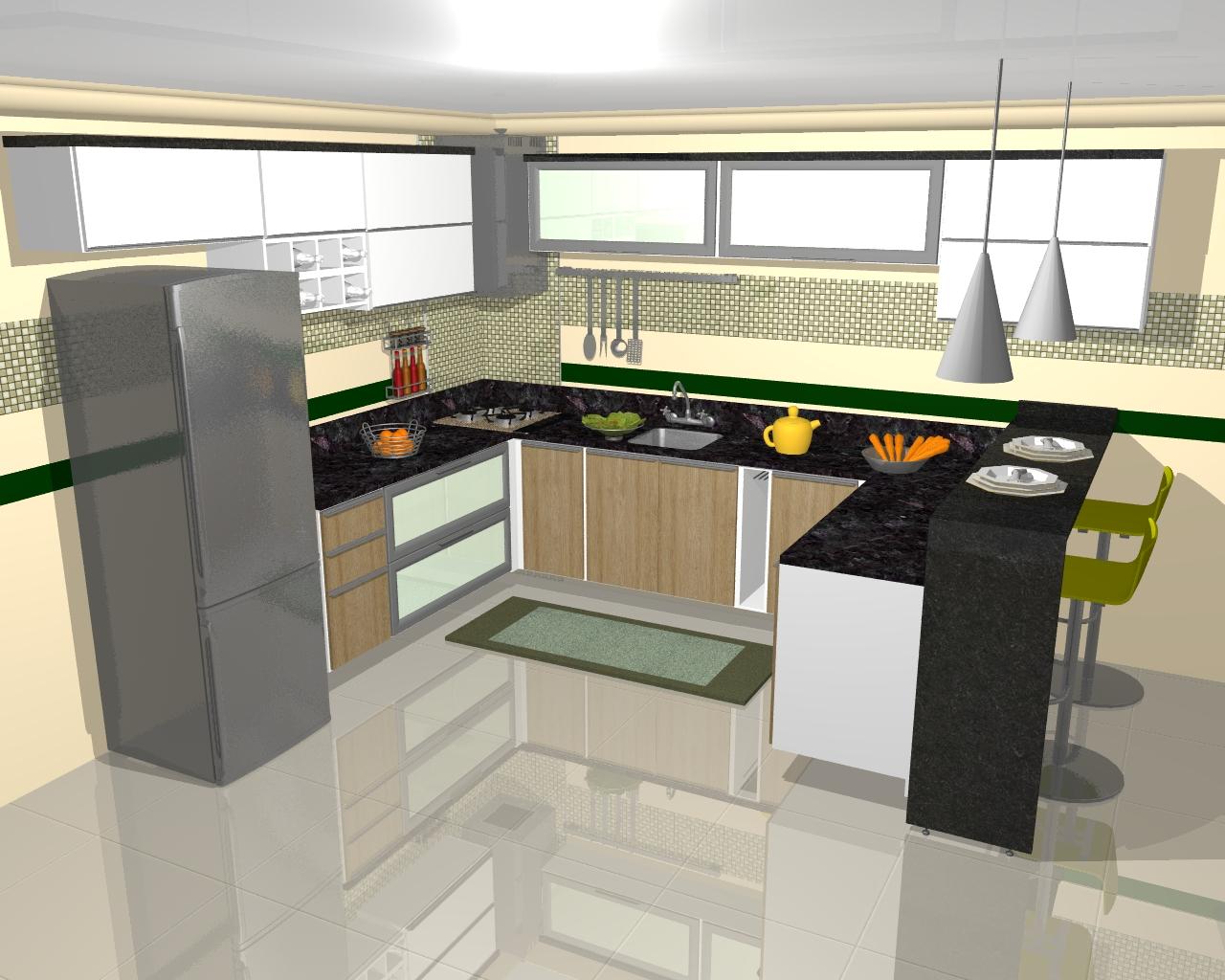Cozinhas Projetadas Futura Ambientes #BD950E 1280 1024