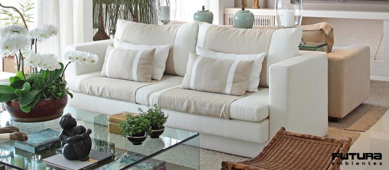Sinônimo de conforto e aconchego, são indispensáveis em uma sala de estar | Futura Ambientes