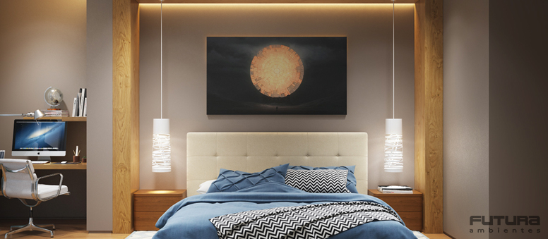 Hoje sua praticidade e belíssimo efeito visual acabam utilizados também em quartos, varandas, salas e home offices. | Futura Ambientes