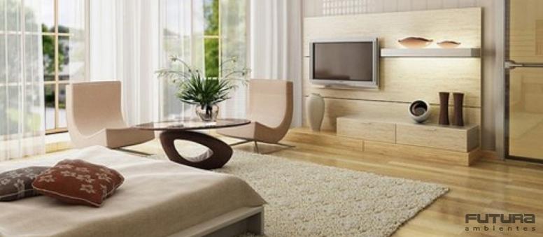 Se a sua intenção é uma mudança profunda que realce a sofisticação a dica é investir em um grande móvel como o sofá ou uma mesa de centro | Futura Ambientes